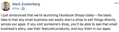 Facebook Shops Norge